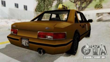 GTA 3 - Taxi para GTA San Andreas traseira esquerda vista