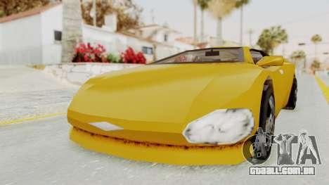 GTA 3 Infernus para GTA San Andreas vista direita