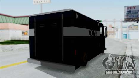CCPD Boxville from Manhunt para GTA San Andreas traseira esquerda vista