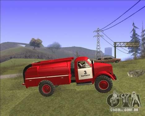 GAZ 63 de bombeiros para GTA San Andreas esquerda vista