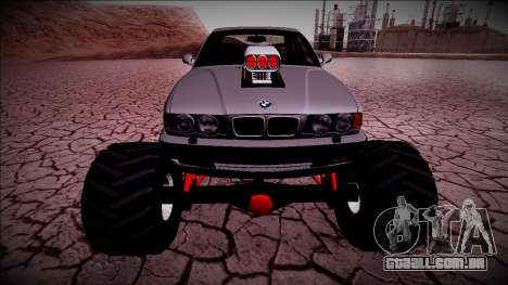 BMW M5 E34 Monster Truck para GTA San Andreas vista traseira