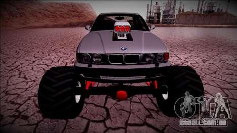 BMW M5 E34 Monster Truck para GTA San Andreas vista traseira