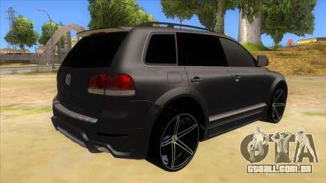 Volkswagen Touareg HQ para GTA San Andreas vista direita
