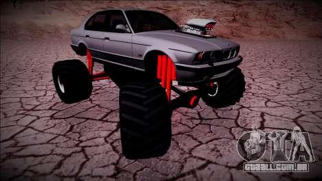 BMW M5 E34 Monster Truck para GTA San Andreas vista direita