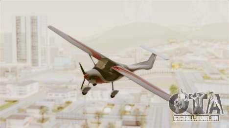 Ultralight Allegro 2000 para GTA San Andreas traseira esquerda vista