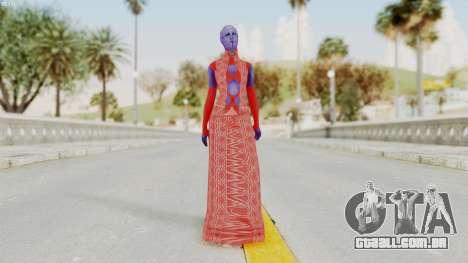 Mass Effect 3 Aria TLoak Dress para GTA San Andreas segunda tela