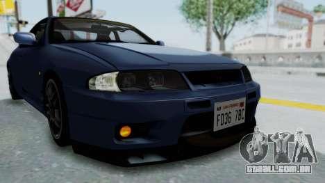 Nissan Skyline R33 GT-R V-Spec 1995 para GTA San Andreas vista superior
