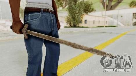 Skyrim Iron Long Sword para GTA San Andreas segunda tela