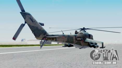 Mi-24V Russian Air Force 46 para GTA San Andreas esquerda vista
