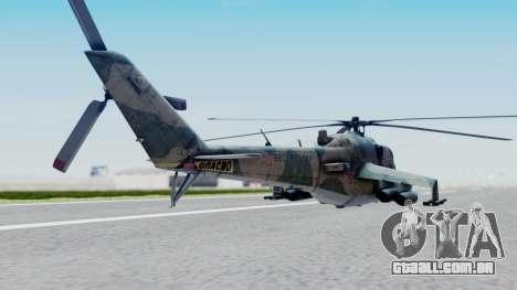 Mi-24V Russian Air Force 46 para GTA San Andreas esquerda vista