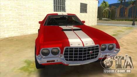 1972 Ford Gran Torino Drag para GTA San Andreas vista traseira