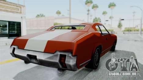 GTA Vice City - Sabre Turbo (Unsprayable) para GTA San Andreas vista direita