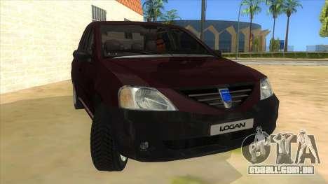 Dacia Logan V2 Final para GTA San Andreas vista traseira