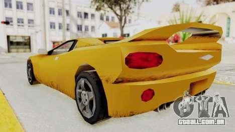 GTA 3 Infernus para GTA San Andreas traseira esquerda vista