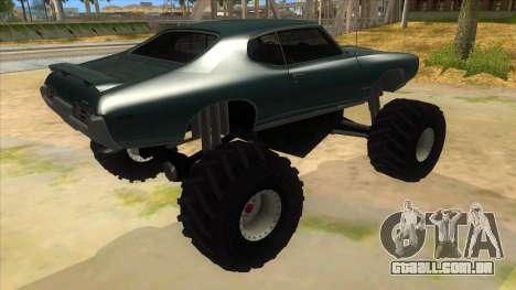1969 Pontiac GTO Monster Truck para GTA San Andreas vista direita