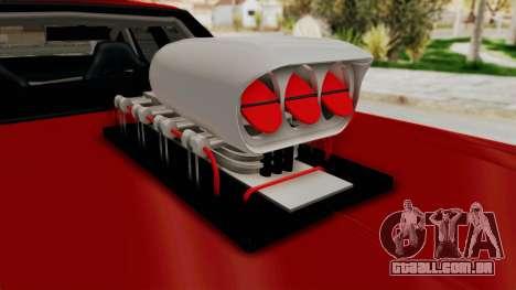 Dodge Monaco 1974 Drag para GTA San Andreas vista traseira