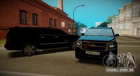 2015 Chevrolet Exterior Ministério para GTA San Andreas vista direita