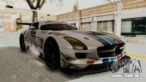 Mercedes-Benz SLS AMG GT3 PJ3 para GTA San Andreas vista inferior