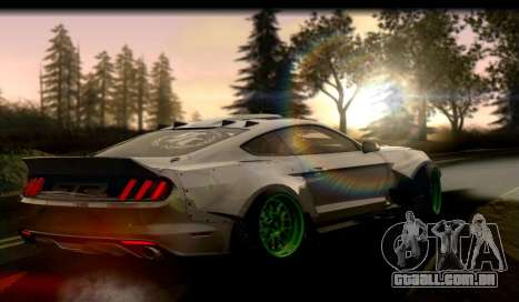 Ford Mustang RTRX Coupe para GTA San Andreas traseira esquerda vista