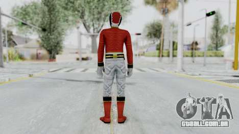 Power Rangers Megaforce - Red para GTA San Andreas terceira tela