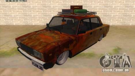 VAZ 2107 Enferrujado Gringo para GTA San Andreas
