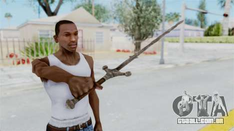 Skyrim Iron Claymore para GTA San Andreas terceira tela