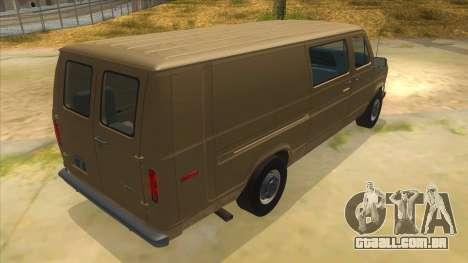 Ford E-250 Extended Van 1979 para GTA San Andreas vista direita