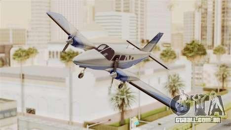 Piper Seneca II v2 para GTA San Andreas traseira esquerda vista