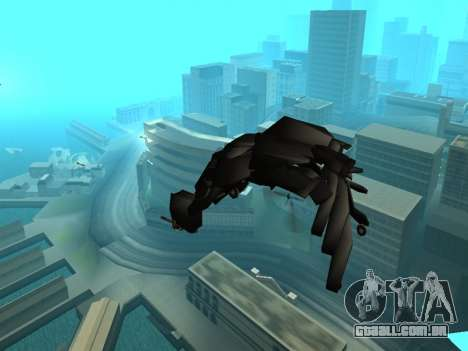 The Dark Knight Rises BAT v1 para GTA San Andreas vista superior