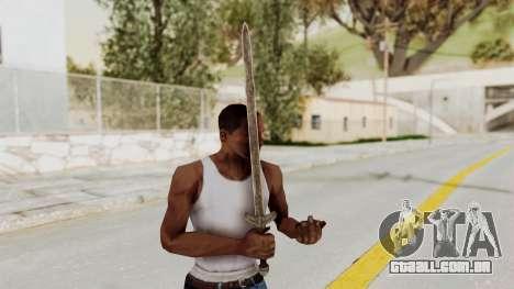 Skyrim Iron Long Sword para GTA San Andreas terceira tela