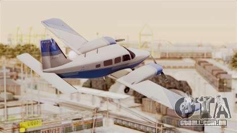 Piper Seneca II v2 para GTA San Andreas vista direita