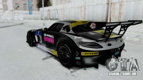 Mercedes-Benz SLS AMG GT3 PJ6 para as rodas de GTA San Andreas