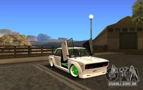 VAZ 2107 Race para GTA San Andreas traseira esquerda vista