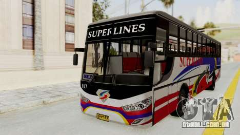 Superlines Ordinary Bus para GTA San Andreas traseira esquerda vista