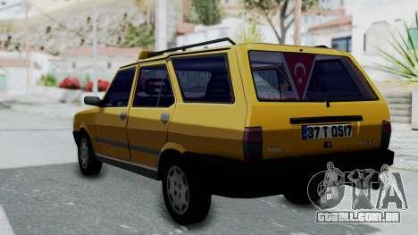 Tofas Kartal Taxi para GTA San Andreas esquerda vista