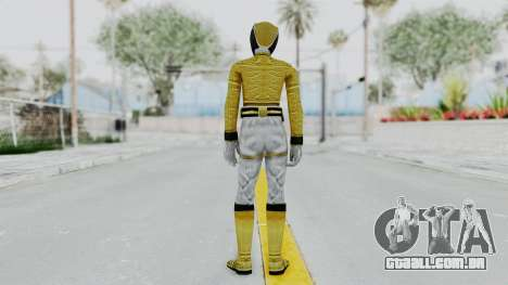 Power Rangers Megaforce - Yellow para GTA San Andreas terceira tela
