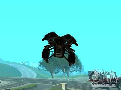 The Dark Knight Rises BAT v1 para GTA San Andreas vista inferior