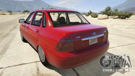 GTA 5 Lada Priora v.2.3 traseira vista lateral esquerda