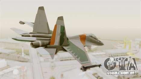 SU-30 MKI para GTA San Andreas esquerda vista