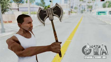 Skyrim Iron Battle Axe para GTA San Andreas terceira tela