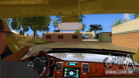 Nissan Patrol 2016 para GTA San Andreas vista interior