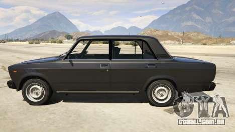 GTA 5 Lada 2107 vista lateral esquerda