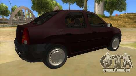 Dacia Logan V2 Final para GTA San Andreas vista direita