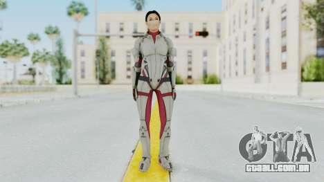 ME 1 Ashley Williams Default White Armor para GTA San Andreas segunda tela