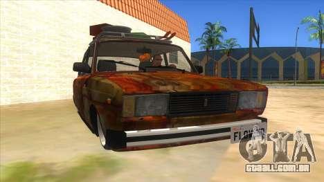 VAZ 2107 Enferrujado Gringo para GTA San Andreas vista traseira