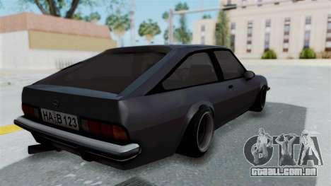 Opel Manta B1 CC para GTA San Andreas esquerda vista