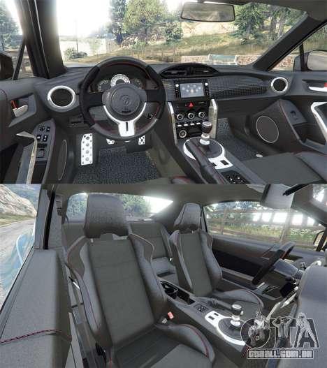 GTA 5 Toyota GT-86 Rocket Bunny v1.6 voltar vista
