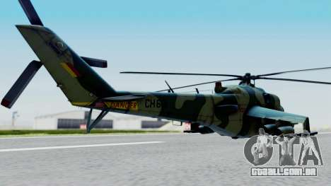 Mi-24V Sri-Lanka Air Force CH621 para GTA San Andreas esquerda vista