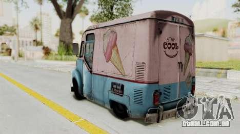 Hitman Absolution - Ice Cream Van para GTA San Andreas esquerda vista