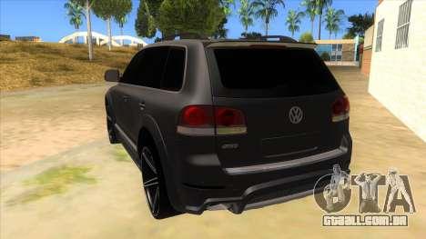 Volkswagen Touareg HQ para GTA San Andreas traseira esquerda vista